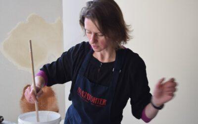 Kohupiimavärvi valmistamine ja kasutamine, praktika